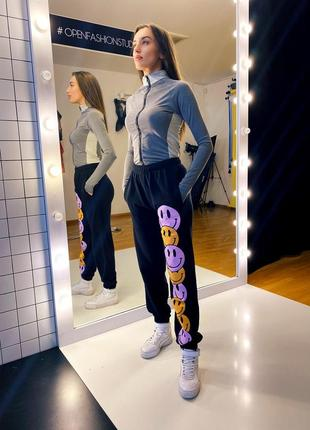 Джогеры со смайлами /спортивные штаны