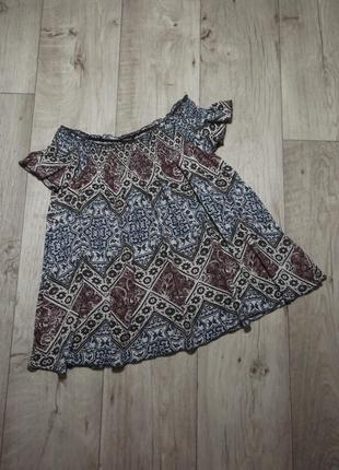 Топ-футболка, блуза с открытыми плечами на резинке lindex, р.xs-s