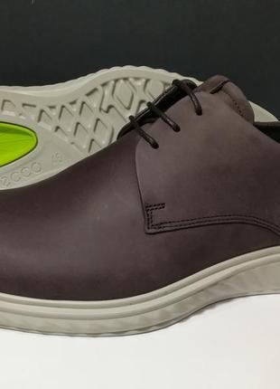Кожаные туфли экко ecco st 1 hybrid lite оригинал р.46 новые португалия