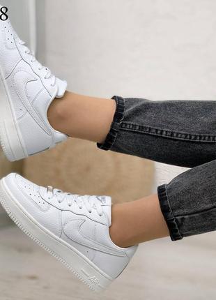 ❤женские кожаные кроссовки белого цвета под бренд ❤