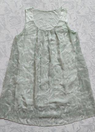 Шелковое платье разлетайка в розочки шелковая блузка,майка,цветочный принт шёлк италия