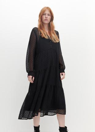 Платья миди черное