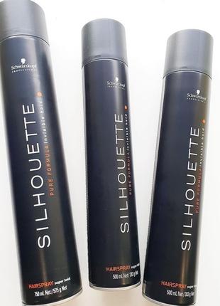 Лак для волос супер сильной фиксацииsilhouette hairspray super hold