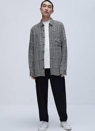 Мужская рубашка в клетку фирмы zara размер xl