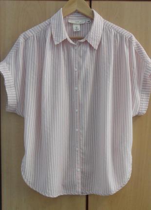 Супер брендовая блуза блузка рубашка хлопок  модал