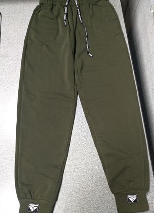 Крутецкие спортивные штаны джоггеры на флисе -норма и батал-на высокий рост