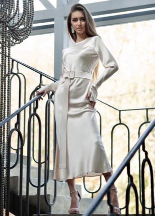 Атласное платье new
