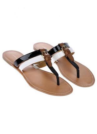 Tommy hilfiger оригинал черно-белые римлянки сандалии босоножки из сша