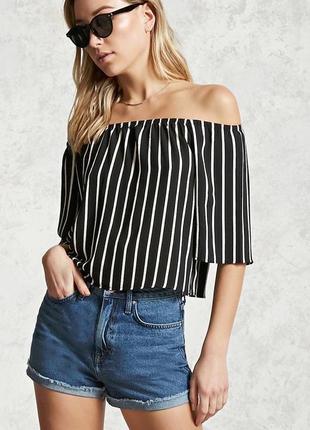 Блуза рубашка в полоску рукав клеш шикарная