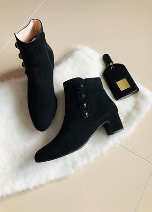 Andrea puccini ботинки натуральная замша,кожа,ботильоны,ботільйони