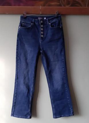 Укорочені джинси, укороченние ,висока посадка