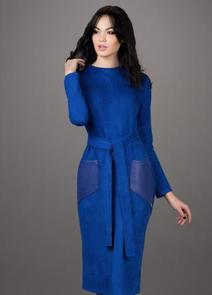 Срочно! стильное осеннее платье из искусств замши новое