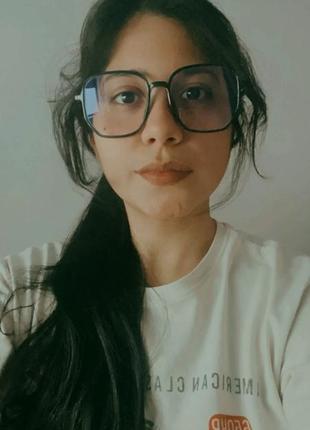 Классные очки для чтения с экрана компютера  антиблик. окуляри большие прозрачные