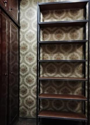 Металлический стеллаж в стиле loft из 7 ярусов h-2100 мм