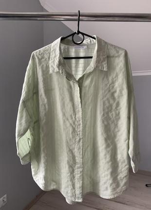 Рубашка, блуза, свободная база мята