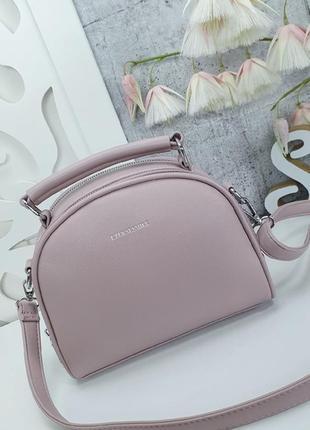 Пудровая сумочка клатч кросс-боди