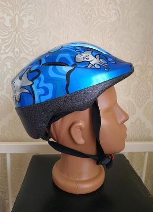 Защитный шлем abus детский велосипедный для роликов объем головы 46-52 см