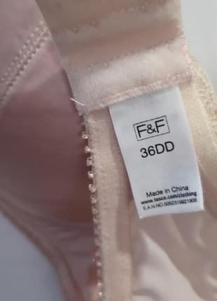 F&f, шикарный бюстгальтер с поролоновыми получашками, размер 85dd/80e.7 фото