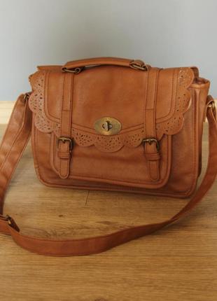 Винтажная сумочка искуственная кожа сумка кроссбоди ретро бохо вінтажна портфель