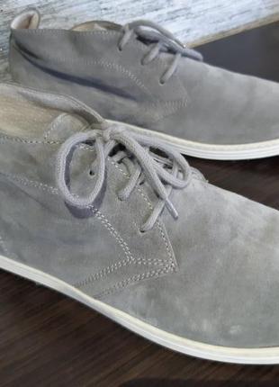 Шикарные замшевые ботинки  docksteps  italy