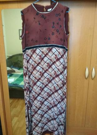 Продам летнее шифоновое платье zara (l)