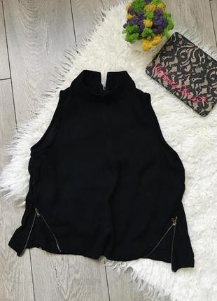 Топ блуза с замками под горло🖤♥️