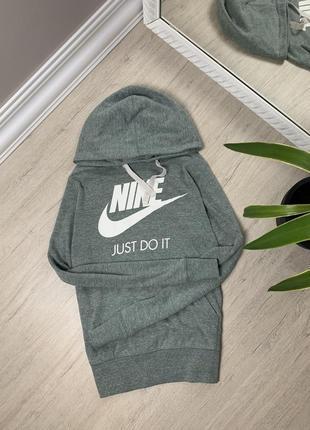 Nike найк женская кофта серая свитшот худи толстовка реглан оригинал
