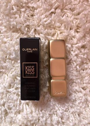 Guerlain kiss kiss matte m309 губная матовая увлажняющая помада для губ герлен