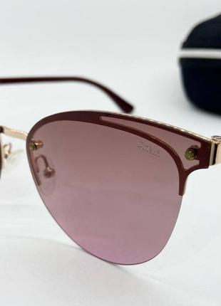 Optelli очки женские солнцезащитные розовые бабочки с поляризоваными линзами