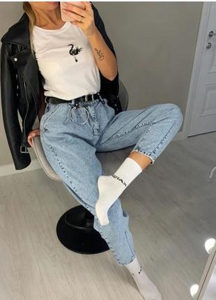 Sale!!! свободные джинсы slouchy с высокой талией джинсы слоучи