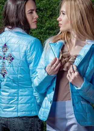 Куртка/синяя куртка/косуха/пиджак/голубая куртка/жакет