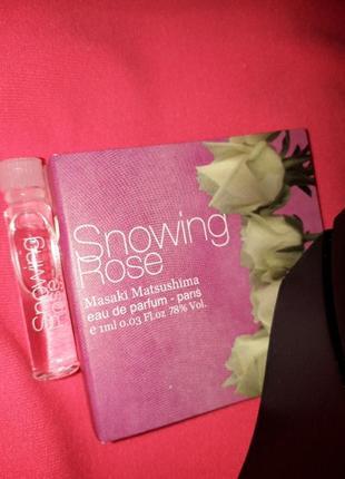 Masaki matsushima snowing rose пробник