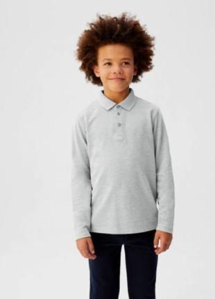 Реглан-поло кофта  для мальчика c воротничком поло реглан мальчик школа mango испания