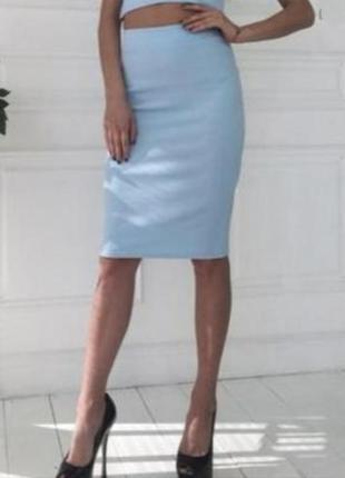Разные цвета и размеры.трикотажная юбка карандаш