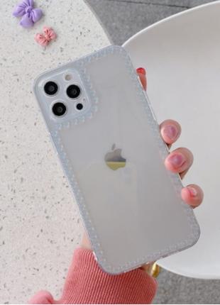 Прозрачный чехол на iphone 7 plus + подарок защитная пленка