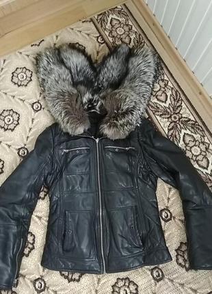Кожаная куртка осень зима