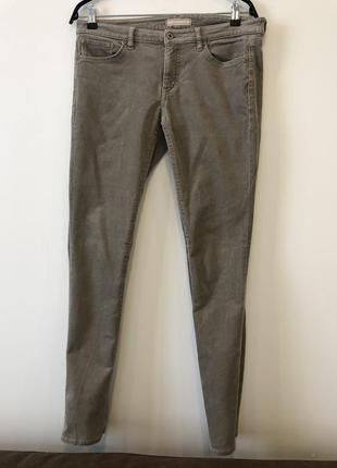 Теплые вельветовые джинсы в обтяжку heattech uniqlo