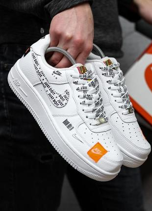 Женские кроссовки nike air force 1 low just do it white