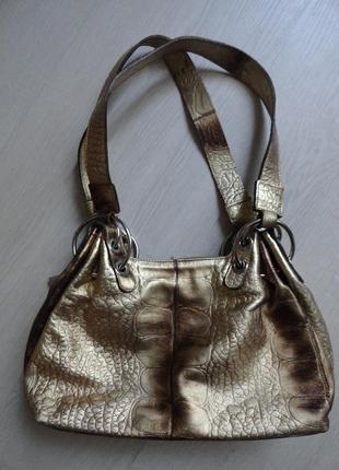 Шикарная сумка из натуральной кожи. италия