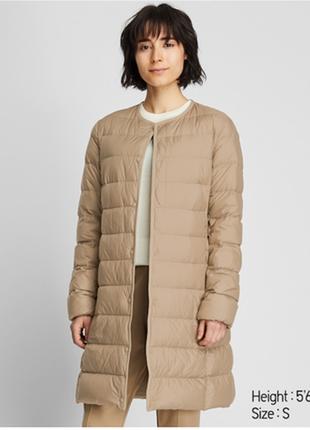 Пуховое пальто uniglo