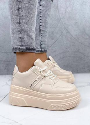 Шикарные кроссовки на высокой подошве кросівки