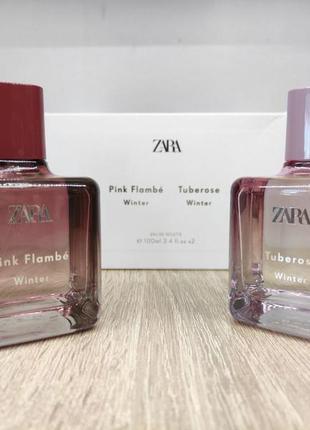 Парфуми zara pink flambe winter/tuberose winter можна придбати як комплект, так і окремо.
