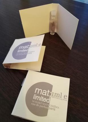 Masaki matsushima mat; limited оригинал пробник 1 мл