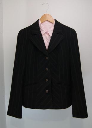 Удлинённый пиджак в полоску space в школу, на работу l-xl