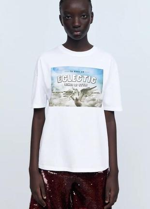Классная футболка zara размер с, м
