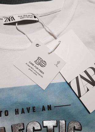Классная футболка zara размер с, м4 фото