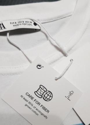 Классная футболка zara размер с, м7 фото