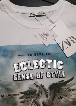 Классная футболка zara размер с, м6 фото