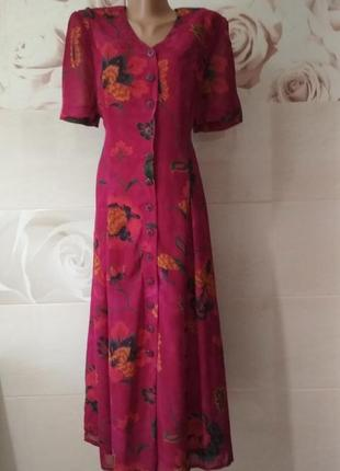 Платье-халат  sporting dress 100% вискоза винтаж