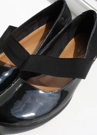 Туфли балетки clarks 36-37 размер на узкую ногу